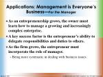 applications management is everyone s business for the manager