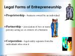 legal forms of entrepreneurship