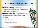 sources of financial resources