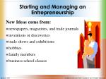 starting and managing an entrepreneurship