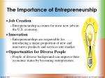 the importance of entrepreneurship