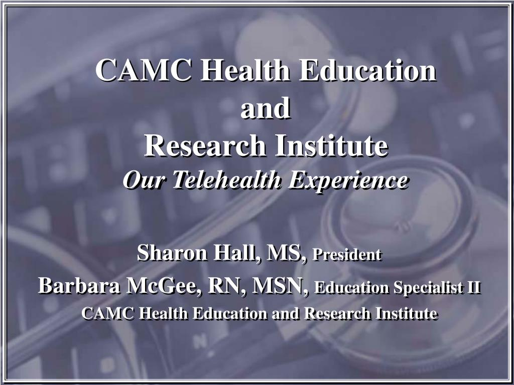 camc health education and research institute our telehealth experience l.