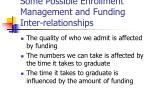 some possible enrollment management and funding inter relationships
