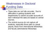 weaknesses in doctoral funding data
