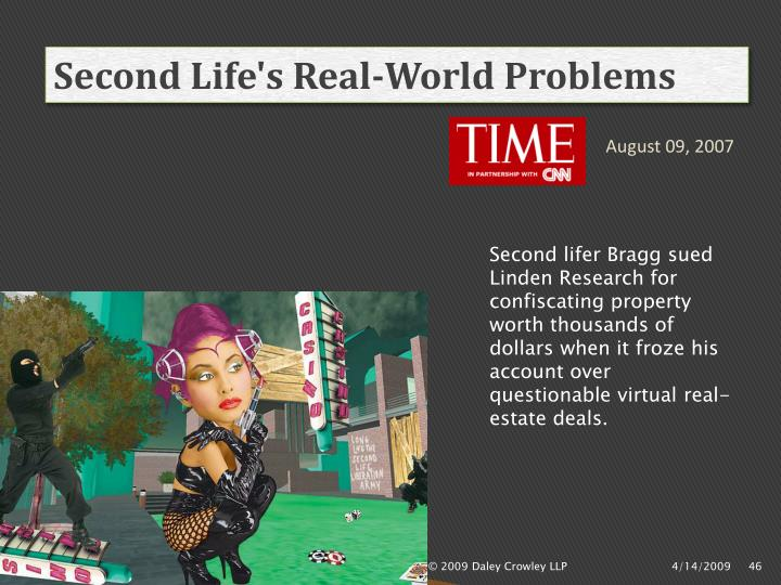 Second Life's Real-World Problems