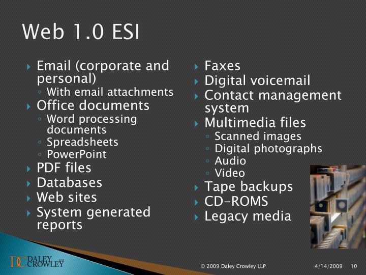 Web 1.0 ESI