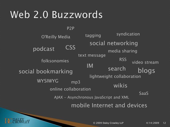 Web 2.0 Buzzwords