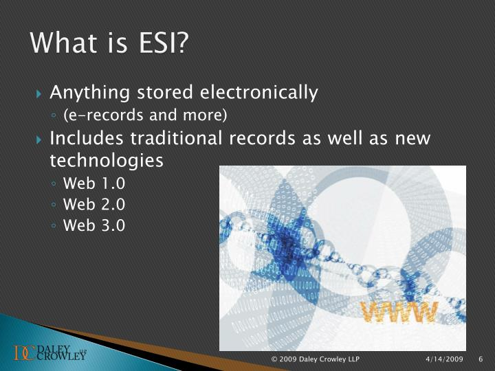 What is ESI?