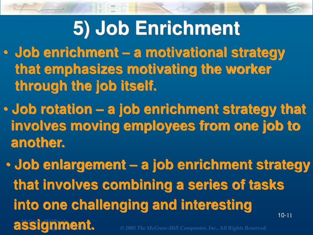 5) Job Enrichment