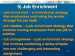 5 job enrichment