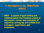 7 management by objectives mbo