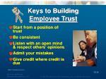 keys to building employee trust