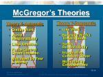mcgregor s theories