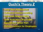 ouchi s theory z
