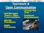 teamwork open communication