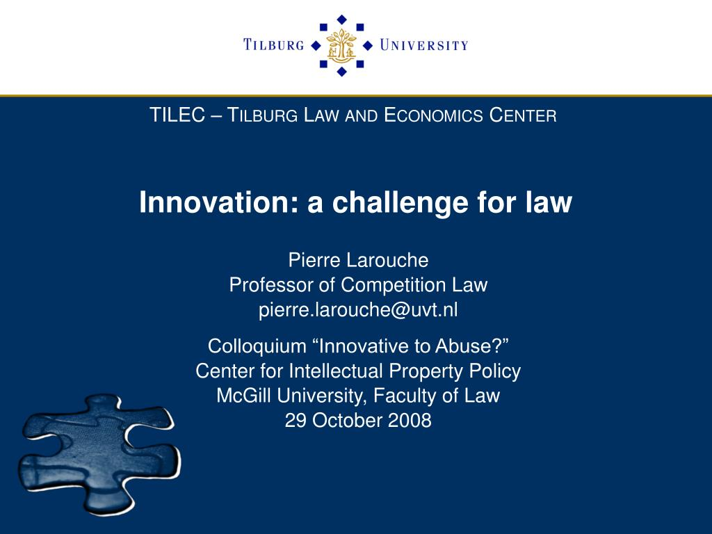 innovation a challenge for law l.