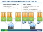 extend virtual storage architecture to include local disk