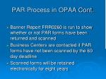 par process in opaa cont