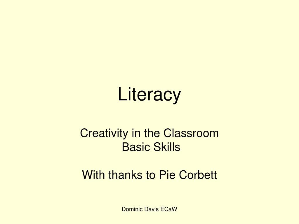 literacy l.
