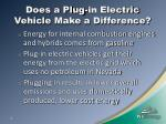 does a plug in electric vehicle make a difference