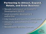 partnering to attract expand retain and grow business
