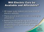 will electric cars be available and affordable