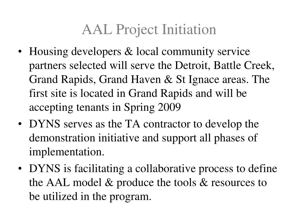 AAL Project Initiation