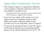 aging in place considerations services