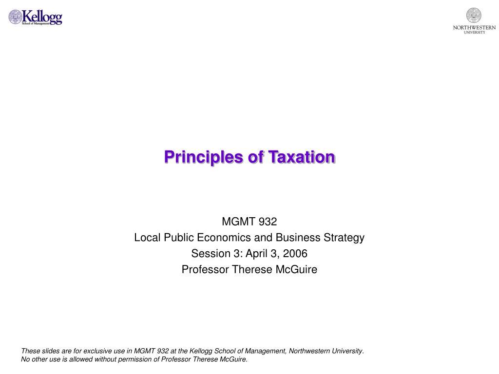 principles of taxation l.