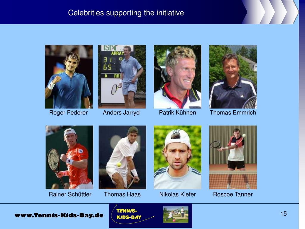 Celebrities supporting the initiative