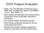 ccht program evaluation