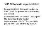 vha nationwide implementation