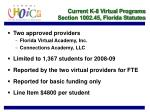 current k 8 virtual programs section 1002 45 florida statutes