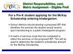 district responsibilities cont matrix assignment eligible prek