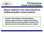 fte reporting for charter school students