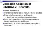 canadian adoption of libqual benefits