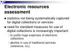 electronic resources assessment