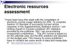 electronic resources assessment38