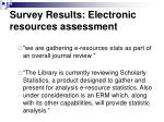 survey results electronic resources assessment