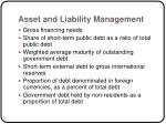 asset and liability management21