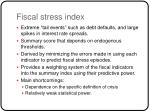 fiscal stress index