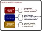 the role of fiscal risk management