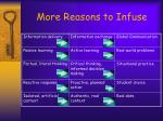 more reasons to infuse