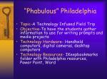 phabulous philadelphia