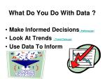 what do you do with data