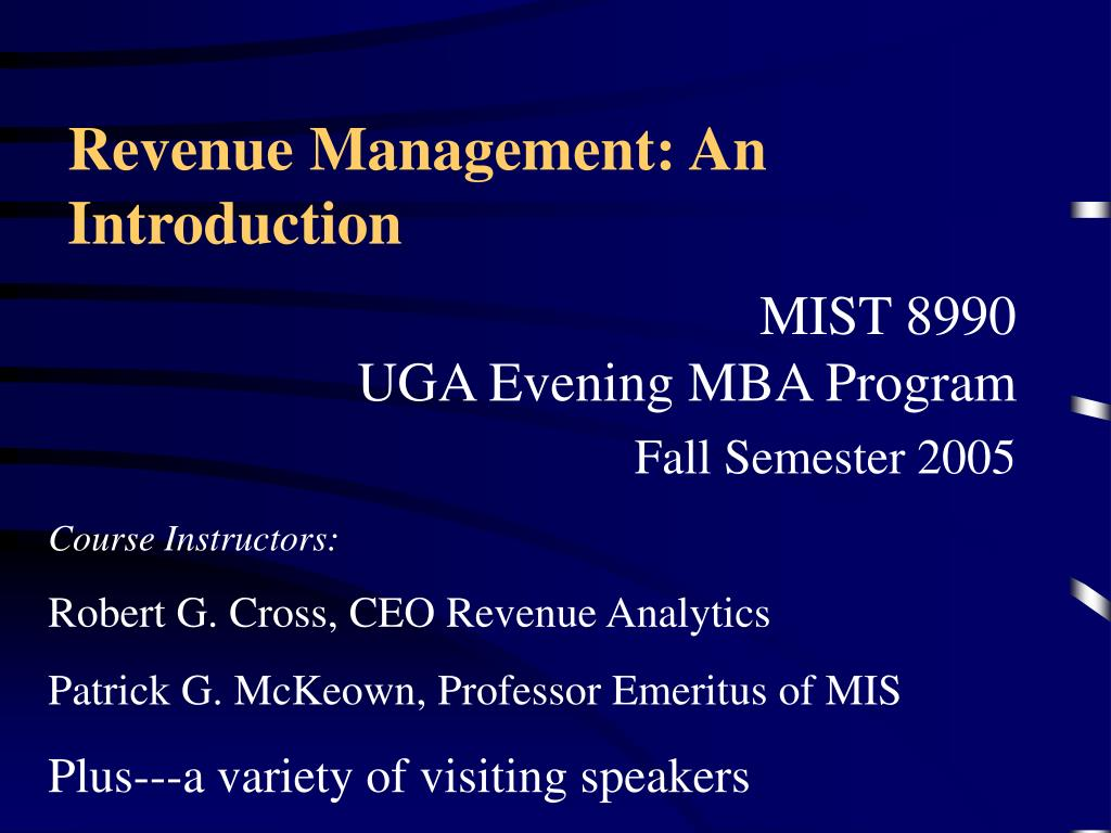 revenue management an introduction l.