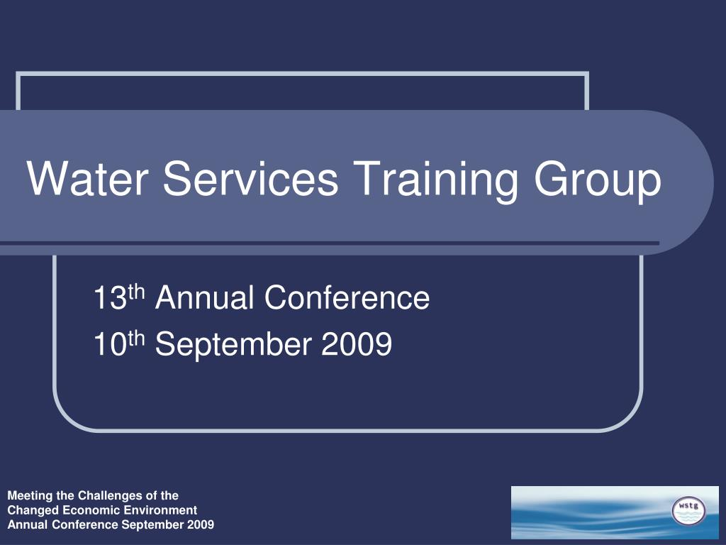 water services training group l.