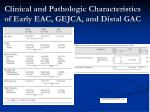 clinical and pathologic characteristics of early eac gejca and distal gac