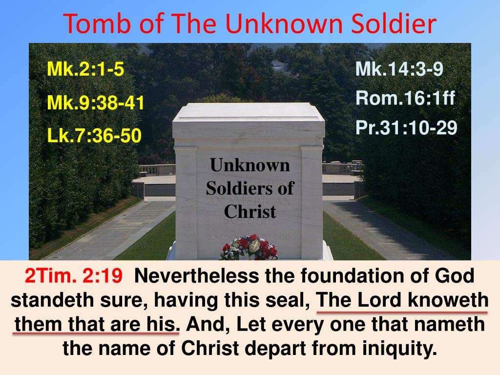 tomb of the unknown soldier l.
