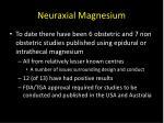neuraxial magnesium27